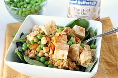 Spicy Peanut Butter Tofu Rice Salad from Natural Chow #tastamazing