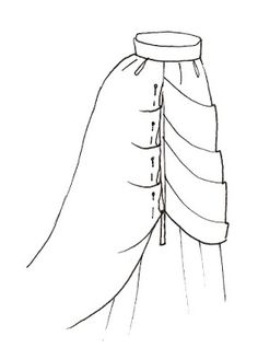 Bones And Lilies: How To Make A Victorian Bustle Skirt - The Easy Way  (human sized)