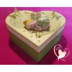 36B-Boîte de naissance fée clochette- au coeur des arts