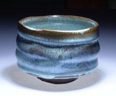 Azure Lanikai blue chawan green teabowl CL109 by Cory by corylum, $288.88
