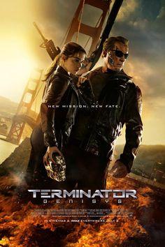 Pôster de O Exterminador do Futuro: Gênesis traz Emilia Clarke e Schwarzenegger