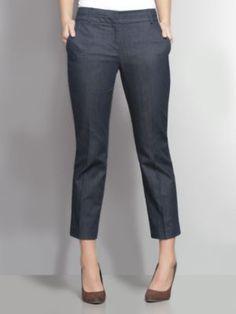 The 7th Avenue Slim Ankle Pant - Hidden Blue thestylecure.com