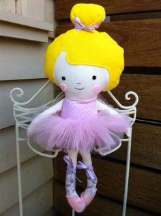 Ballerina Doll by LaurasBlueWren (pattern by DollsAndDaydreams)