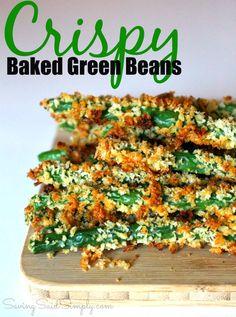 Crispy Baked Green Beans Recipe   SavingSaidSimply.com