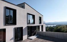Schweizer Architektur: Individuelles Architektenhaus mit Blick auf den See - m3 Architekten Zürich Mansions, House Styles, Home Decor, Detached House, Architecture, Projects, Swiss Guard, Windows, Decoration Home