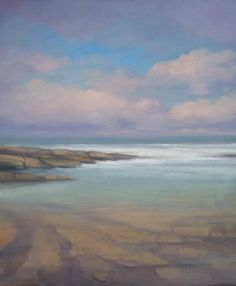 "'Rock Pool, Donegal' oil on panel 17"" x 23"" Morgan Ferriter 2017 http://bit.ly/29a6rK7 Creevy, Donegal, Ireland #art #paintings #Donegal #ireland #WildAtlanticWay www.morganferriter.com"