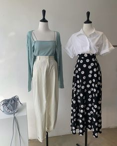 Cute Casual Outfits, Modest Outfits, Pretty Outfits, Dress Outfits, Aesthetic Fashion, Look Fashion, Aesthetic Clothes, Fashion Design, Korean Girl Fashion