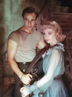 """Marlon Brando and Vivien Leigh, """"A Streetcar Named Desire""""- classic movie 1951 (based on the play by Tennessee Williams)"""