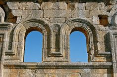 Ruins of St Simeon's basilica, near Aleppo, Syria