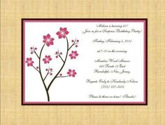 Cherry Blossoms Invitations or Announcements by elonacreations, $62.50