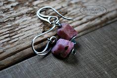 16% OFF SALE! Raw Ruby Stone Earrings Rustic Rough Cut Gemstones Nuggets Sterling Silver Jewelry Boho by Letemendia by letemendia on Etsy https://www.etsy.com/listing/262566392/16-off-sale-raw-ruby-stone-earrings