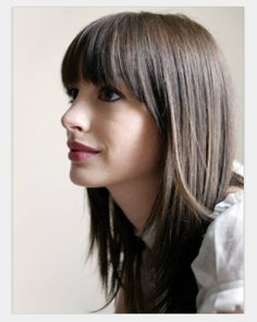 Bangs with face frame layers