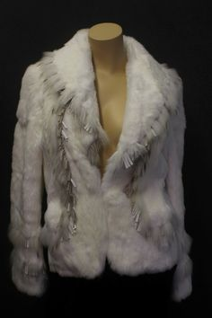 $189 NWT Cache White Fur Jacket - Extra Small