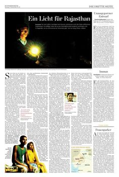 Report on an organisation that sells solar lamps in rural India (2011)