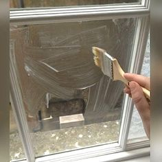 She Brushes Cornstarch On Her Bedroom Windows, But The End Result? Gorgeous!
