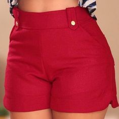 Ideas shorts with molds and patterns Casual Wear, Casual Shorts, Casual Outfits, Fashion Outfits, Casual Dresses, Short Outfits, Short Dresses, Chor, How To Make Shorts