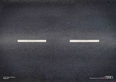 A simple but smart ad that promotes Audi fatigue detector system. #carads. Take a look at top 11 creative car ads on http://impressivemagazine.com/2013/07/02/top-11-creative-car-ads/