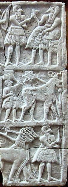 Votive stone plaques from Sumerian city of Ur - circa 2600-2400 BCE
