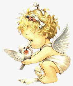Precious moments baby angel and dove of peace. Angel Images, Angel Pictures, Cute Pictures, Baby Engel Tattoo, Cherub Tattoo, Angel Drawing, Cute Clipart, Girl Clipart, I Believe In Angels