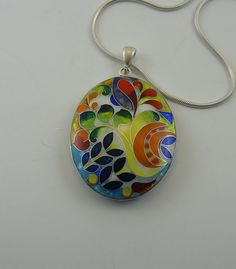 Check out this item in my Etsy shop https://www.etsy.com/listing/287608751/free-shipping-silver-cloisonne-enamel