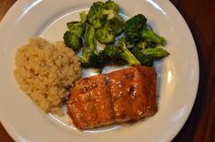 Baked Asian Salmon, adapted from an Ina Garten recipe