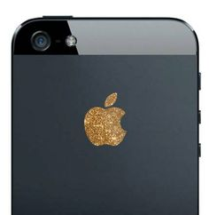 iPhone 5 Sparkling Gold Apple Decal by kellokult on Etsy, 4.00