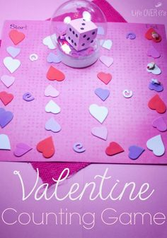 This DIY Valentine's Board Game for counting is so simple to put together and it's so much fun to play with preschoolers and kindergarteners!