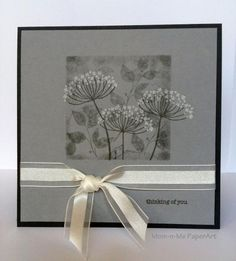 Stampin' Up! ... handcrafted card: Summer Silhouettes Winter ... shades of gray ... luv the artistic look ...