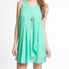 Sleeveless chiffon shift dress Sleeveless chiffon shift dress Dresses Mini