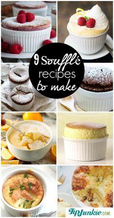 9 Super Soufflé Recipes to Make Dessert Recipes Souffle Recipe Dessert, Souffle Recipes Easy, Dessert Crepes, Souffle Dish, Mug Recipes, Gourmet Recipes, Cooking Recipes, Fancy Recipes, Gourmet Foods