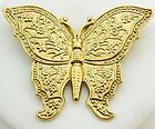 Butterfly Pin 1928 Gold Tone Embossed Metal Brooch - 1928, Brooch, Butterfly, Embossed, Gold, Metal, tone http://designerjewelrygalleria.com/1928-jewelry/1928-pins/butterfly-pin-1928-gold-tone-embossed-metal-brooch/