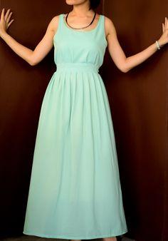 Maxi Mint Green  dress -  Bridesmaid Dress - Prom Dress. $45.00, via Etsy.