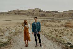 Claire + Jordan // Utah Desert Engagements - Montana Lee Photography