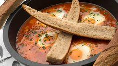 Receta de Huevos entomatados