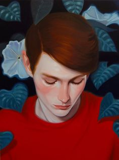 Paint­ing of Canadian artist Kris Knight.