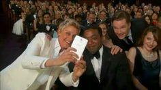 Benedict photobombing Ellen!