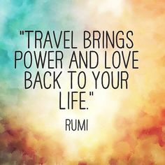 Repinned: Travel brings power and love back to your life. #DestinationSummer #travel #quotes