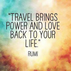 Les voyages nous apportent la force et l'amour pour retourner à notre vie #voyage
