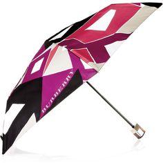 Burberry Geometric-print umbrella ($105) ❤ liked on Polyvore