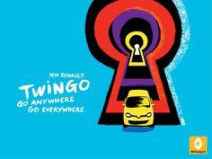 "«Renault Twingo: ""Go anywhere, go everywhere""». Me gusta toda la campaña."