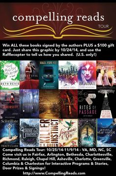 The #CompellingReadsTour has an AMAZING giveaway & lineup! Enter to win a $100 gift card and 16 signed books. US only.