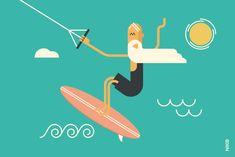 NIKO – Graphic Designer › Le kitesurf