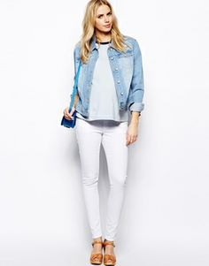 Image 4 of ASOS Maternity Ridley Skinny Jean In White