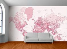 World Map Wall Mural from Design Milk