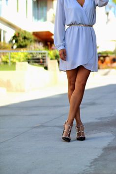Pair a flowy dress with a fierce pair of heels.
