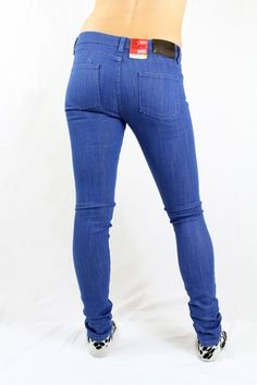 Naked and Famous - The Skinny - Rich Blue  Women's mid rise skinny jean, Japanese denim, made in Canada