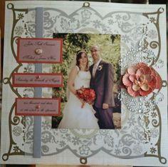 Title Page Wedding Album - Scrapbook