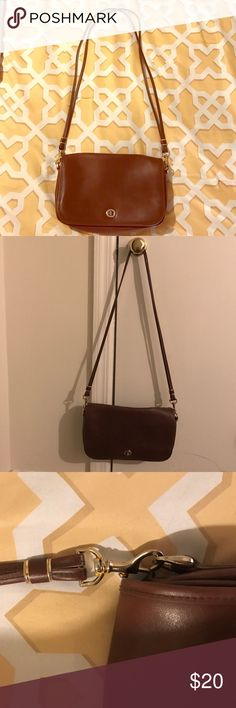Gorgeous faux leather cross body bag. Gorgeous faux leather cross body bag. Such amazing quality. Looks almost identical to the Coach legacy bags. Very nice bag. Excellent quality and condition. Love this piece.                      13 inches wide, 7 inches tall. Very roomy and feels great. Bags Crossbody Bags