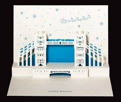 Tower Bridge Christmas popup by PAPERTANGOLTD on Etsy, £5.99