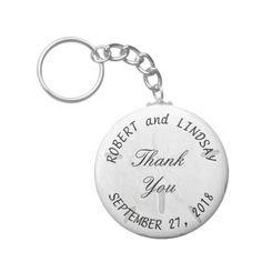 Sand Dollar Round Wedding Key Chain Favors